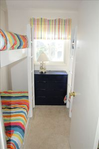 Four built in kids bunks.  A very cozy space.