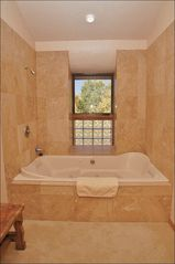 Steamboat Springs house photo - Huge 2-Person Jacuzzi Tub & Travertine Shower
