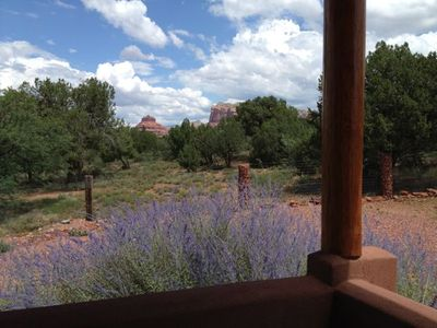 Red rock view from patio