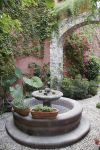 San Miguel de Allende house rental - Relax to the sound of running water in the cantera fountain