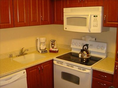 Fully equipped kitchen with all the comforts and convenience of home...