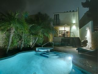 night time pool side - Mission Bay house vacation rental photo