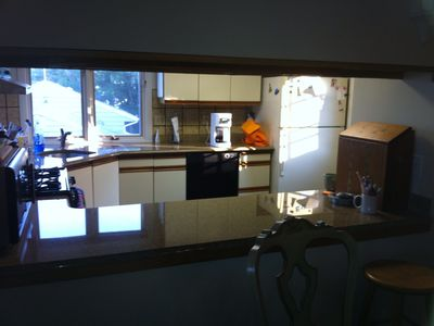 Mystic house rental - Looking into kitchen from Dining Room