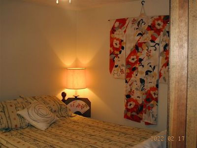 Japanese Decor throughout Queen bed