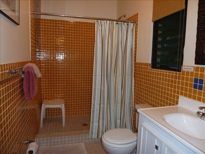 Bathroom with Spacious Tiled Shower