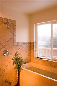 Girdwood house rental - Japanese Wood Tub in Private Bath