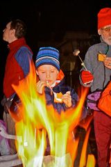 Squaw Valley - Olympic Valley condo photo - Making Smores at the Firepit at the Red Wolf Lodge at Squaw Valley