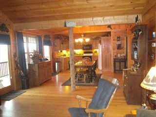 Murphy cabin photo - View of dining area and kitchen
