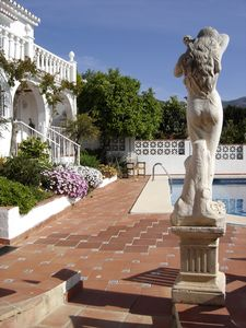Mijas villa rental - Garden & pool