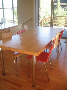 Large Dining Room Table - Made from a Reclaimed Bowling Alley!