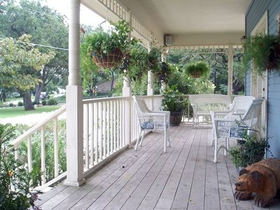 Wrap around porch at Main House