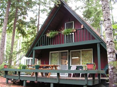 Great cabin at lake cushman near lakeside vrbo for Cabin rentals olympic national forest