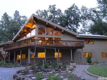 Placerville house rental - Back of house with views of the river