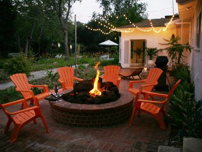 Gather around the fire pit for smores and stories.
