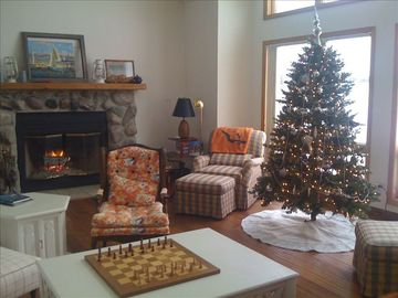 Family Room at Christmastime