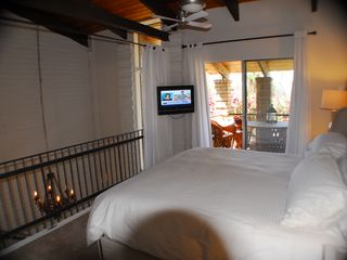 Old Town Scottsdale condo photo - Loft Bedroom with pivoting TV