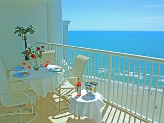 Sea Watch condo photo - Large Main Balcony, Nicely Furnished, Ceramic Tiles, and Breathtaking Views.