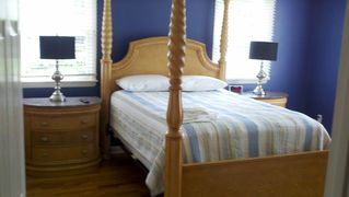 "Old Saybrook house photo - Master bedroom Suite with water views,32"" Flat Screen with full bathroom attaced"