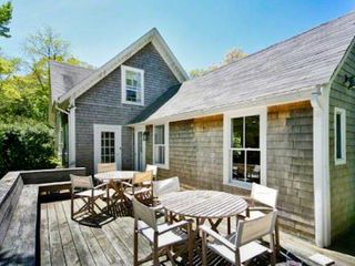 Vineyard Haven house photo - Home Has A Large Sunny Deck For Outdoor Dining & Entertaining