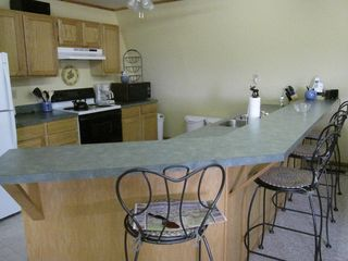 Littleton studio photo - Full kitchen with bar eating space for 4.
