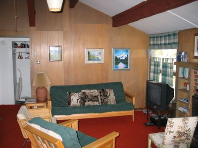 Roger's Chalet Resting Room. - Here is another angle on the ample living space of this otherwise efficient White Mountain chalet.
