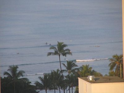 Honolulu condo rental - View of Waikiki Beach from lanai