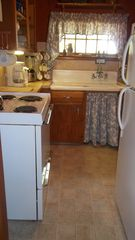 Port Sanilac cottage photo - New floor in kitchen and in bath.