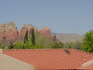 Sedona condo photo - View of Well Known Coffee Pot Rock from Patio