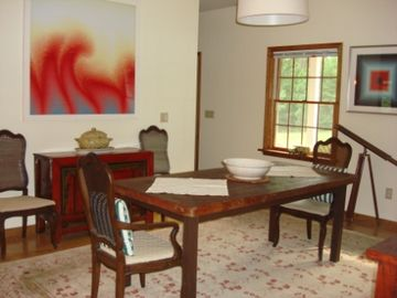 Another view of the open dining room