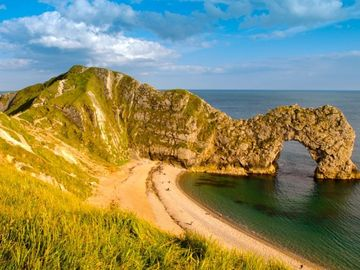 Visit Durdle Door and explore the Jurassic Coast