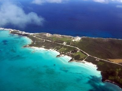 View of nearby beaches. No private beaches in Bahamas! Pick one and kayak to it