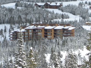 Big Sky condo photo - Skycrest Condominiums as seen from slopes of Big Sky