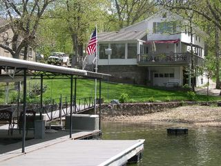 Laurie house photo - Dock and swimdeck view with beach and firepit