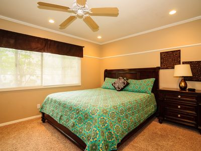 Master Bedroom with California King Size Bed.