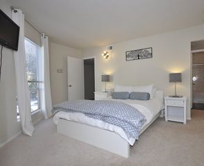 Austin house photo - Inviting and Spacious Master Bedroom with Private Balcony!