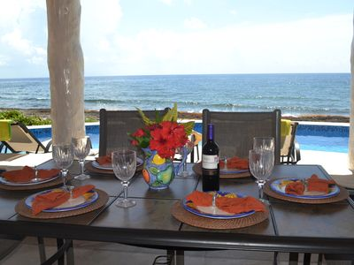 Enjoy dinning ocean front terrace in luxury villa