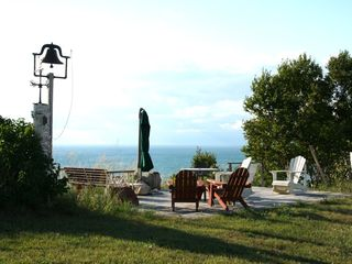 Claybank Township cottage photo - Deck on Bluff overlooking Lake Michigan