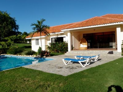 Sosua villa rental - Pool and Villa view