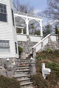(MH) Steps to Pergola, Stone Patio with Built in Gas Grill