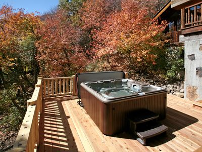 New hot tub tucked away from everything.