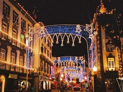 Funchal's famous Xmas New Year lights