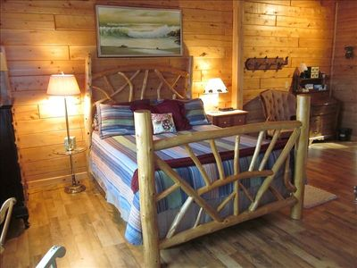 Your queen-size Adirondack bed hand-crafted by a local artisan