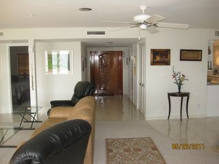 Deerfield Beach condo photo - View of Entrance door, second bedroom on left and kitchen on right
