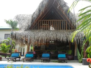 Nosara house photo - The Rancho pool area includes 4 cushioned lounge chairs and 4 outdoor day beds