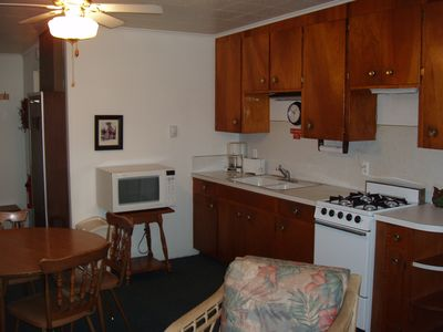 Burt Lake condo rental - Kitchen / dining area