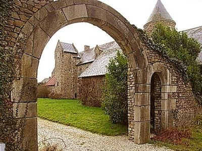 Carentan chateau / country house rental - Archway leading to manor house