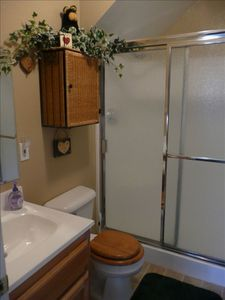 Master bath w/ large (two-seat) walk-in shower & 'Rain-shower' shower head!