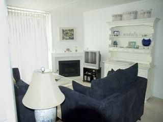 Oceanside condo rental - Off Lower Patio - Love Seat, Queen Pull-out, We Now Have a LCD Flat Screen