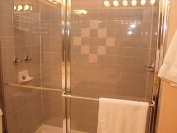 Two headed shower in oversized Master Bath