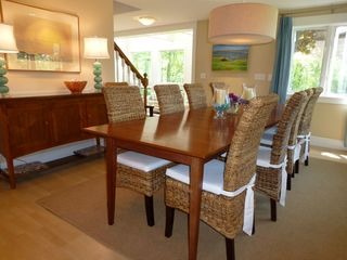 Biddeford house photo - Solid cherry dining table seats 12 comfortably.